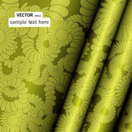 free vector Fine pattern curtains 01 vector