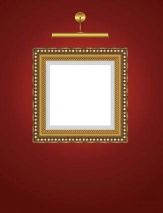Beautifully ornate pattern picture frame 02 vector