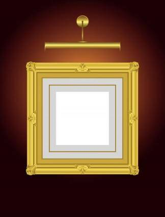 Beautifully ornate pattern picture frame 03 vector