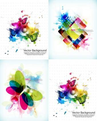 free vector Brilliant color pattern vector