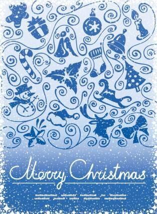 Christmas decoration pattern vector