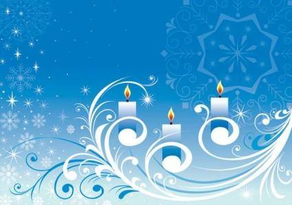 free vector Snowflake candle pattern vector
