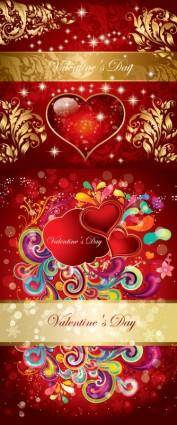 free vector Valentine gorgeous pattern vector