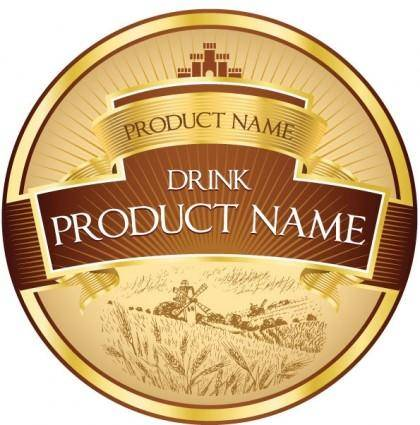 free vector Product label design 01 vector