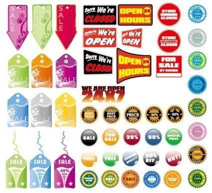 free vector Sales decorative pattern vector