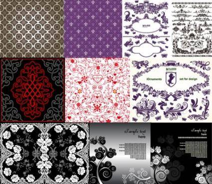 10 beautiful pattern vector