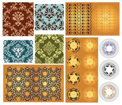 free vector Variety of classical pattern vector