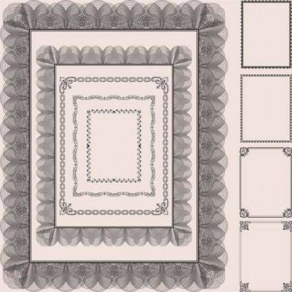 Classic pattern framework 03 vector