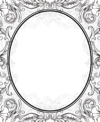 Scene when europeanstyle lace border pattern vector 1