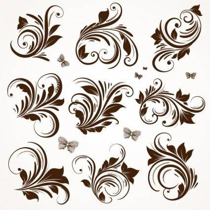 free vector European classic lace pattern 04 vector