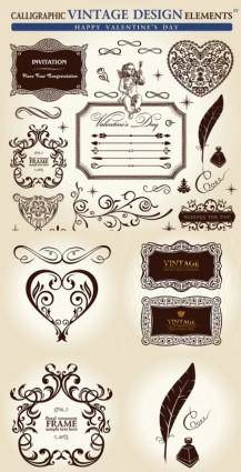 European classical pattern vector
