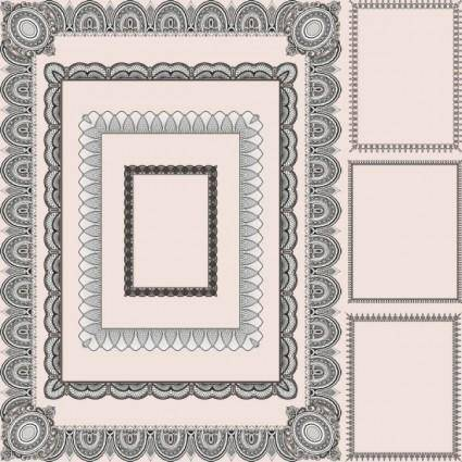 Classic pattern framework 01 vector