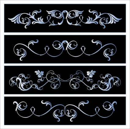 free vector Black and white lace pattern vector