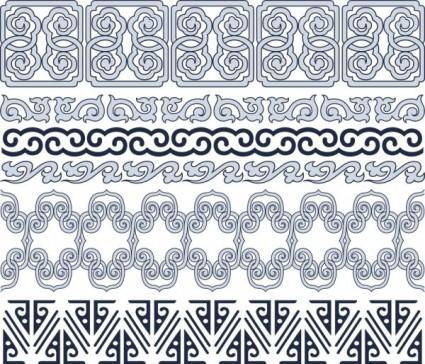 Classic traditional pattern lace 05 vector