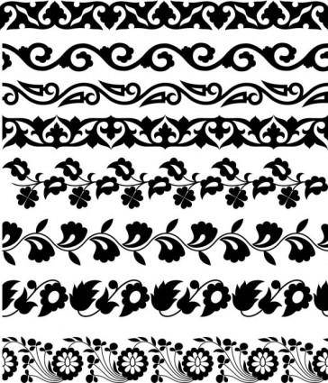 Classic traditional pattern lace 02 vector