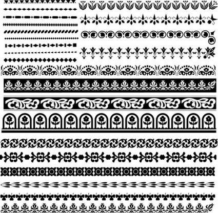 free vector Classic traditional pattern lace 03 vector