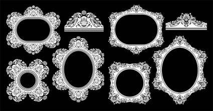 free vector European classical pattern vector frame