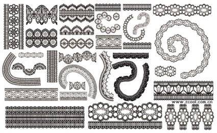 Lace lace pattern vector 2