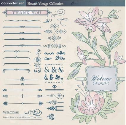 free vector Europeanstyle lace pattern 02 vector