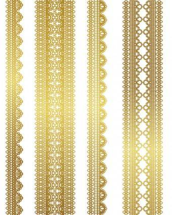 free vector Gold lace pattern 03 vector