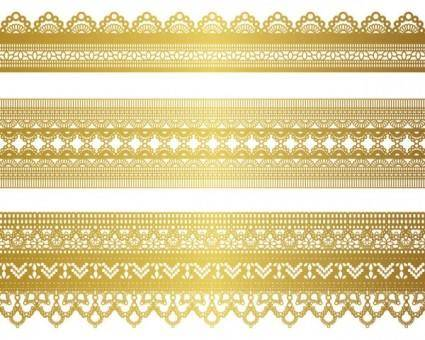 Gold lace pattern 04 vector 23231