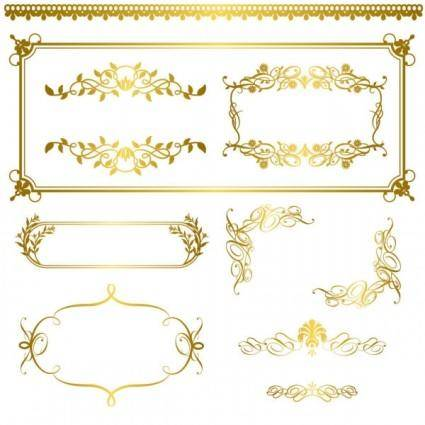 free vector Gold lace pattern 05 vector