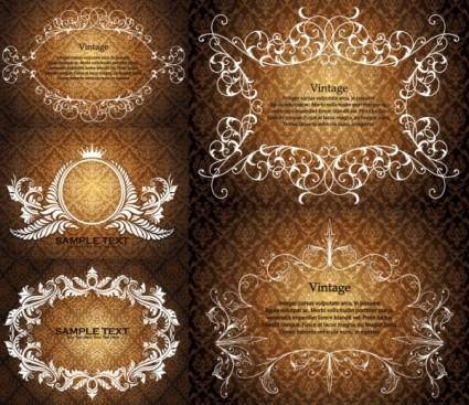 free vector European gorgeous lace pattern vector