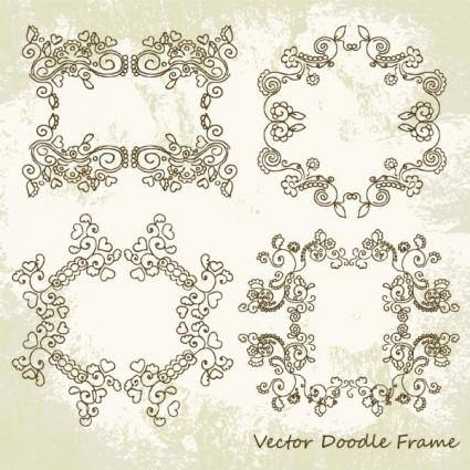 Beautiful lace pattern 01 vector 23239