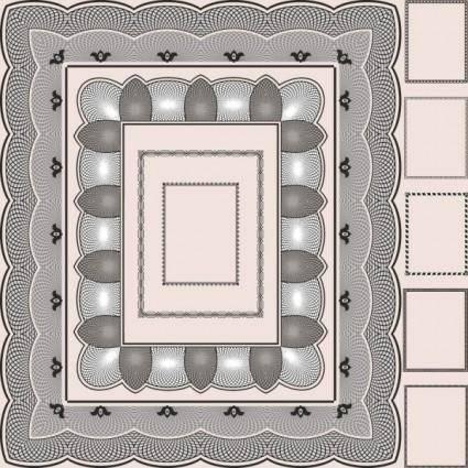 Classic pattern framework 04 vector