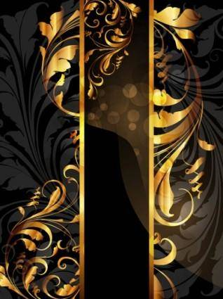 free vector Gold pattern vector 4