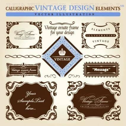 European retro lace pattern vector
