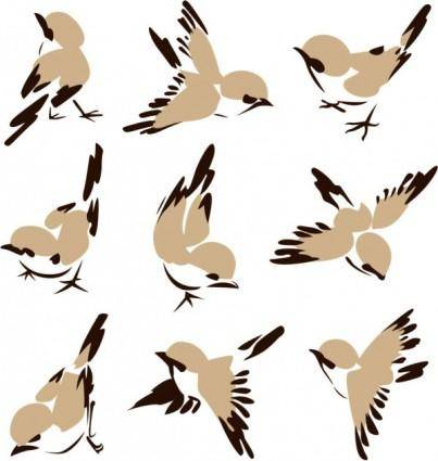 Chinese painting bird 01 vector