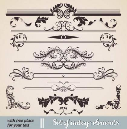 free vector European classic lace pattern 02 vector