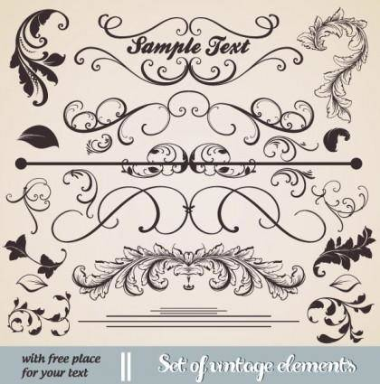 free vector European classic lace pattern 03 vector