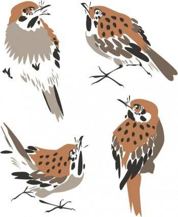 free vector Chinese painting bird 03 vector