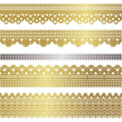 free vector Gold lace pattern 02 vector