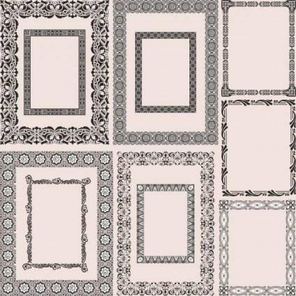 Classic pattern framework 05 vector