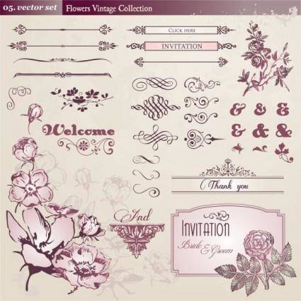 Europeanstyle lace pattern 01 vector