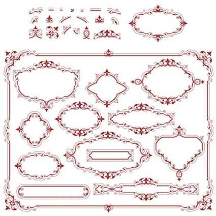 Europeanstyle lace pattern 05 vector