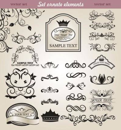 free vector European classic lace pattern 05 vector