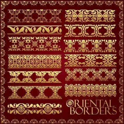 Ornate traditional patterns border 02 vector