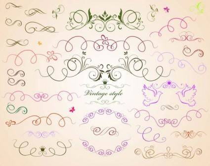free vector Draft line lace pattern vector