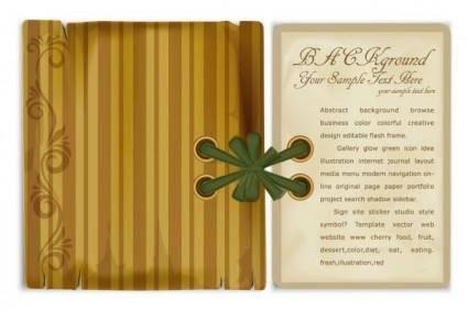 free vector Bookmark beautifully retro 01 vector