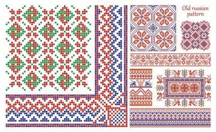 Pixel border style pattern vector