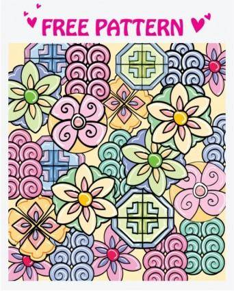 1 lovely pattern vector
