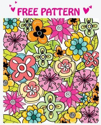 free vector Lovely pattern vector 2