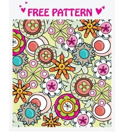 free vector Lovely pattern vector 3