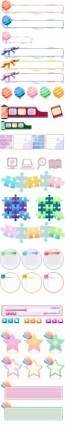 free vector Exquisite patterns vector cute pattern