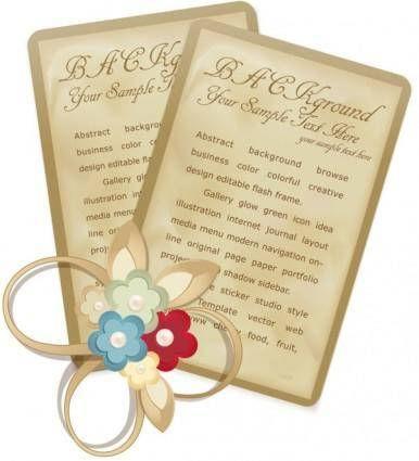 Beautiful retro bookmark 02 vector