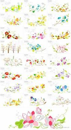 free vector 25 floral pattern vector